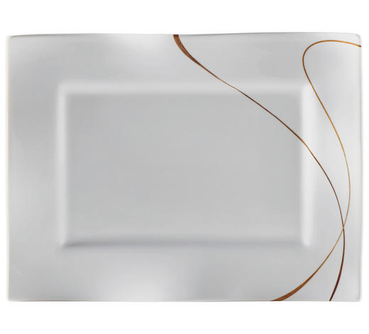 PODNOS 22X30 CM - bílá/hnědá, Design, keramika (30/22/2cm) - Ritzenhoff Breker