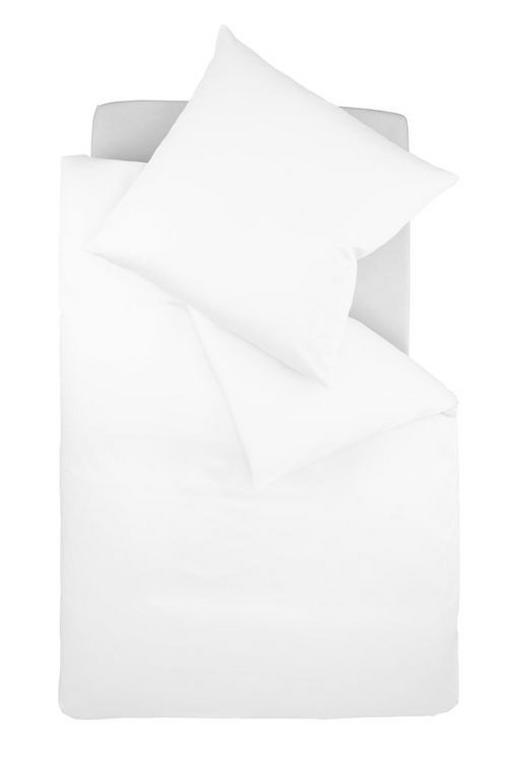 Bettwäsche-Garnitur 200 x 200 Makosatin Weiß 200/200 cm - Weiß, Textil (200/200cm) - Fleuresse