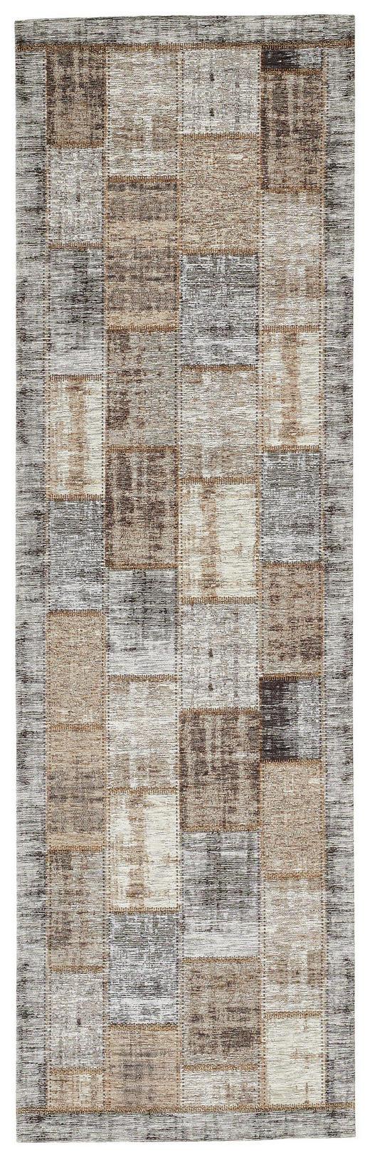 LÄUFER  68/220 cm  Beige, Grau - Beige/Grau, Basics, Textil (68/220cm) - Novel