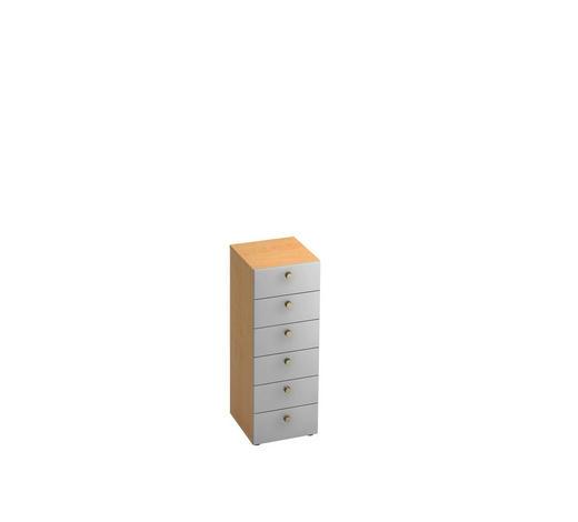 KOMMODE 40/110/42 cm  - Silberfarben/Ahornfarben, KONVENTIONELL, Holzwerkstoff/Metall (40/110/42cm)