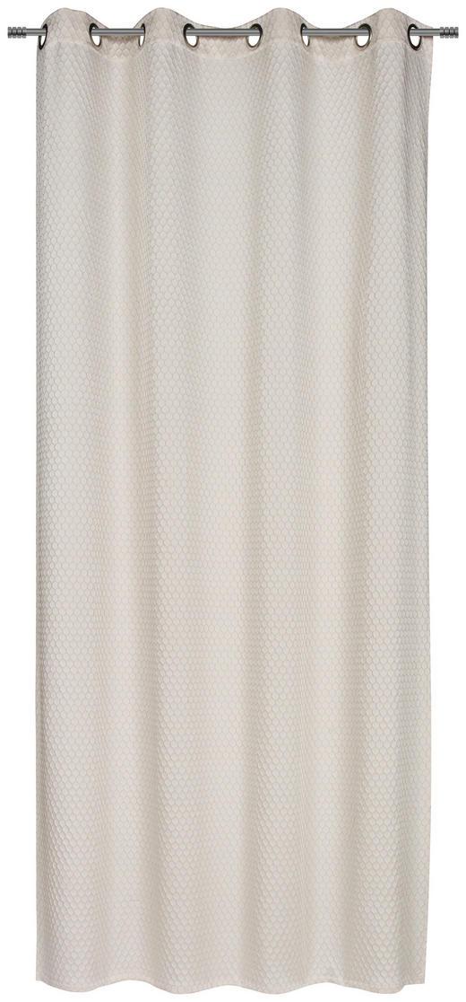 ÖSENSCHAL  blickdicht  140/250 cm - Braun, MODERN, Textil (140/250cm) - Esposa
