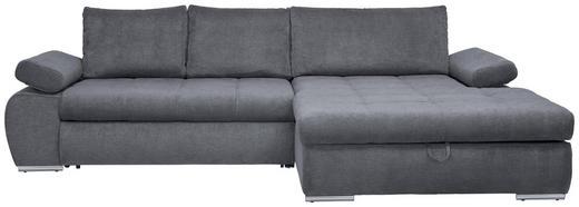 SEDACÍ SOUPRAVA, šedá, textilie - šedá/barvy chromu, Design, textilie/umělá hmota (294/173/cm) - Carryhome