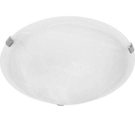 STROPNÍ SVÍTIDLO CHROM - bílá, Basics, kov/sklo (30/9cm) - Boxxx