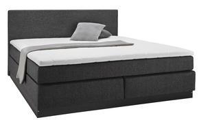 KONTINENTALSÄNG - svart/grå, Design, metall/trä (206/152/60cm)