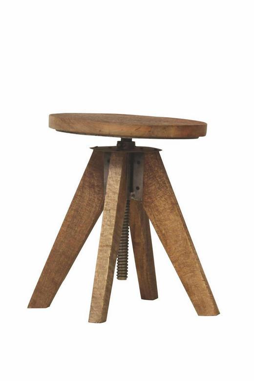 DREHHOCKER Braun - Braun, Design, Holz (33/48cm)