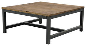 COUCHTISCH in Holz, Metall 90/90/40 cm   - Dunkelgrau/Braun, Trend, Holz/Metall (90/90/40cm) - Landscape