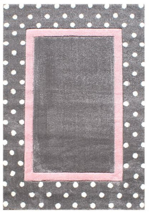 KINDERTEPPICH  120/180 cm  Grau, Rosa, Silberfarben - Silberfarben/Rosa, Basics, Textil (120/180cm)