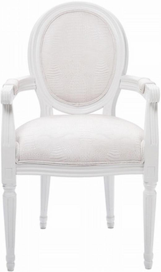 ARMLEHNSTUHL Birke Weiß - Weiß, Design, Holz/Textil (59/93/59cm) - KARE-Design