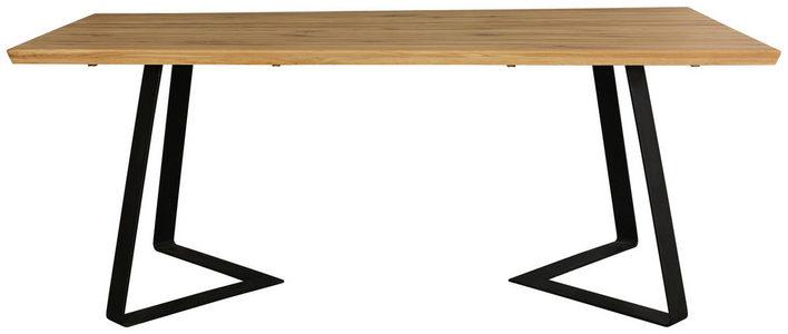 TRPEZARIJSKI STO - Crna/Boja hrasta, Konvencionalno, Drvo/Metal (200/100/76cm) - Hom`in