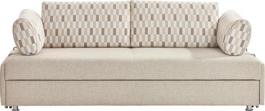 SCHLAFSOFA Beige - Chromfarben/Beige, Design, Textil/Metall (212/84/100cm) - BALI