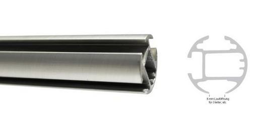 INNENLAUFSTANGE 160 cm - Edelstahlfarben, Basics, Metall (160cm) - Homeware