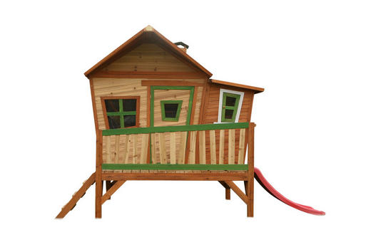 Axi Spielhaus Emma - Rot/Braun, Basics, Holz (345/229/180cm)