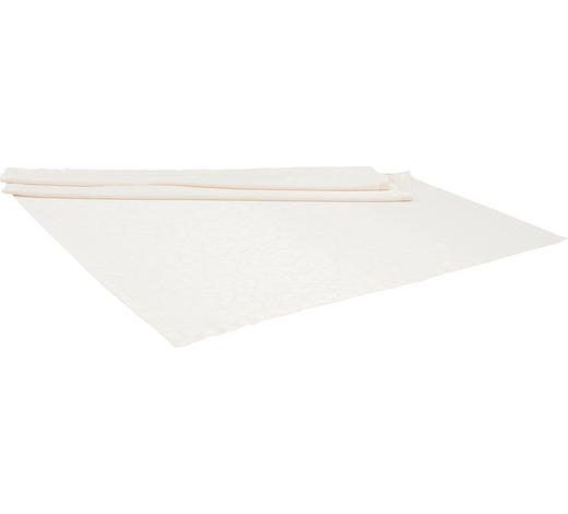 TISCHDECKE 130/160 cm - Creme/Weiß, LIFESTYLE, Textil (130/160cm)