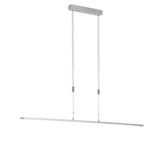 LED-HÄNGELEUCHTE - Alufarben/Weiß, Design, Kunststoff/Metall (160/90-150cm)