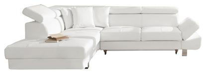 WOHNLANDSCHAFT in Textil Weiß - Chromfarben/Weiß, Design, Textil/Metall (229/270cm) - Xora