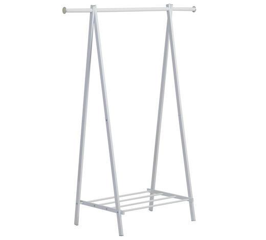 KLEIDERSTÄNDER Weiß  - Weiß, Trend, Metall (109/147,5/48,5cm)