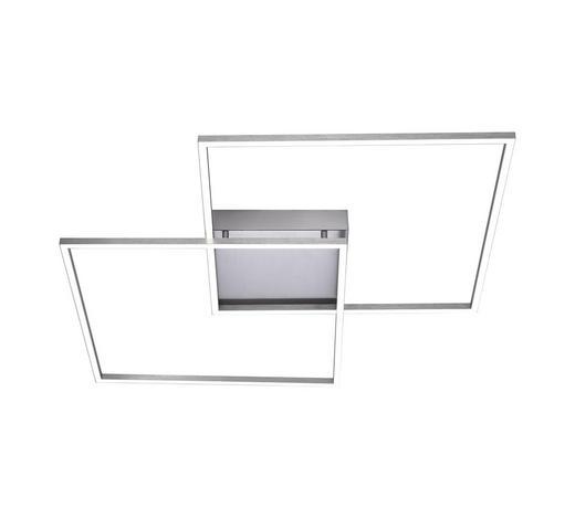 LED-DECKENLEUCHTE - Nickelfarben, Design, Metall (67,7/67,7/6,8cm)