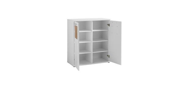 SCHUHSCHRANK 84/93/38 cm - Chromfarben/Weiß, Design, Holzwerkstoff/Metall (84/93/38cm) - Voleo