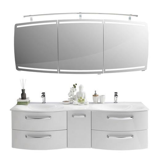 BADEZIMMER Weiß - Weiß, Design (180cm) - Sadena