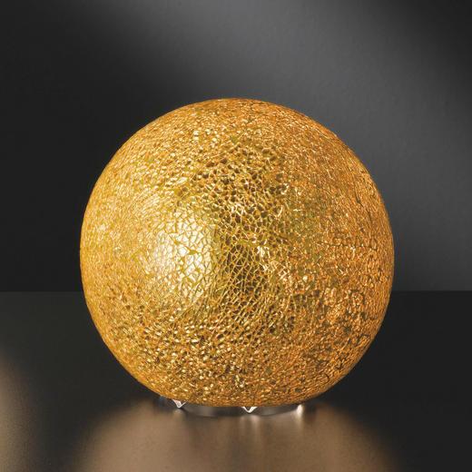 TISCHLEUCHTE - Goldfarben, KONVENTIONELL, Glas (20cm)