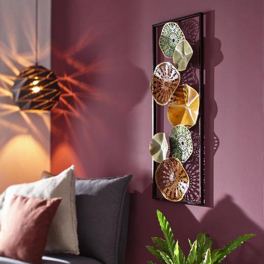 WANDDEKO Metall - Multicolor, Metall (35/90/6cm) - Ambia Home