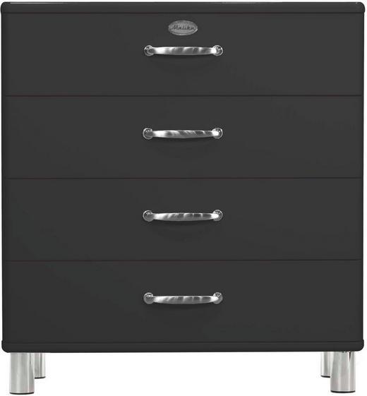 KOMMODE Schwarz - Schwarz/Nickelfarben, Design, Metall (86/92/41cm) - CARRYHOME