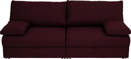 SCHLAFSOFA Brombeere - Chromfarben/Brombeere, Design, Textil/Metall (192/77-88/110-120cm) - Bali
