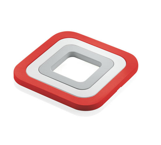 SET 3/1 PODSTAVEK ZA POSODO - rdeča/bela, Konvencionalno, umetna masa (15/1/15cm)