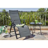 GARTEN-RELAXSESSEL Aluminium - Anthrazit/Grau, KONVENTIONELL, Textil/Metall (60/110/72cm)