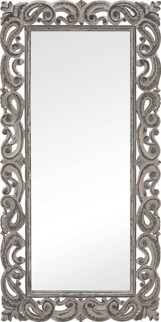 SPIEGEL - Grau, Trend, Glas/Holz (90/180/3,5cm) - Ambia Home