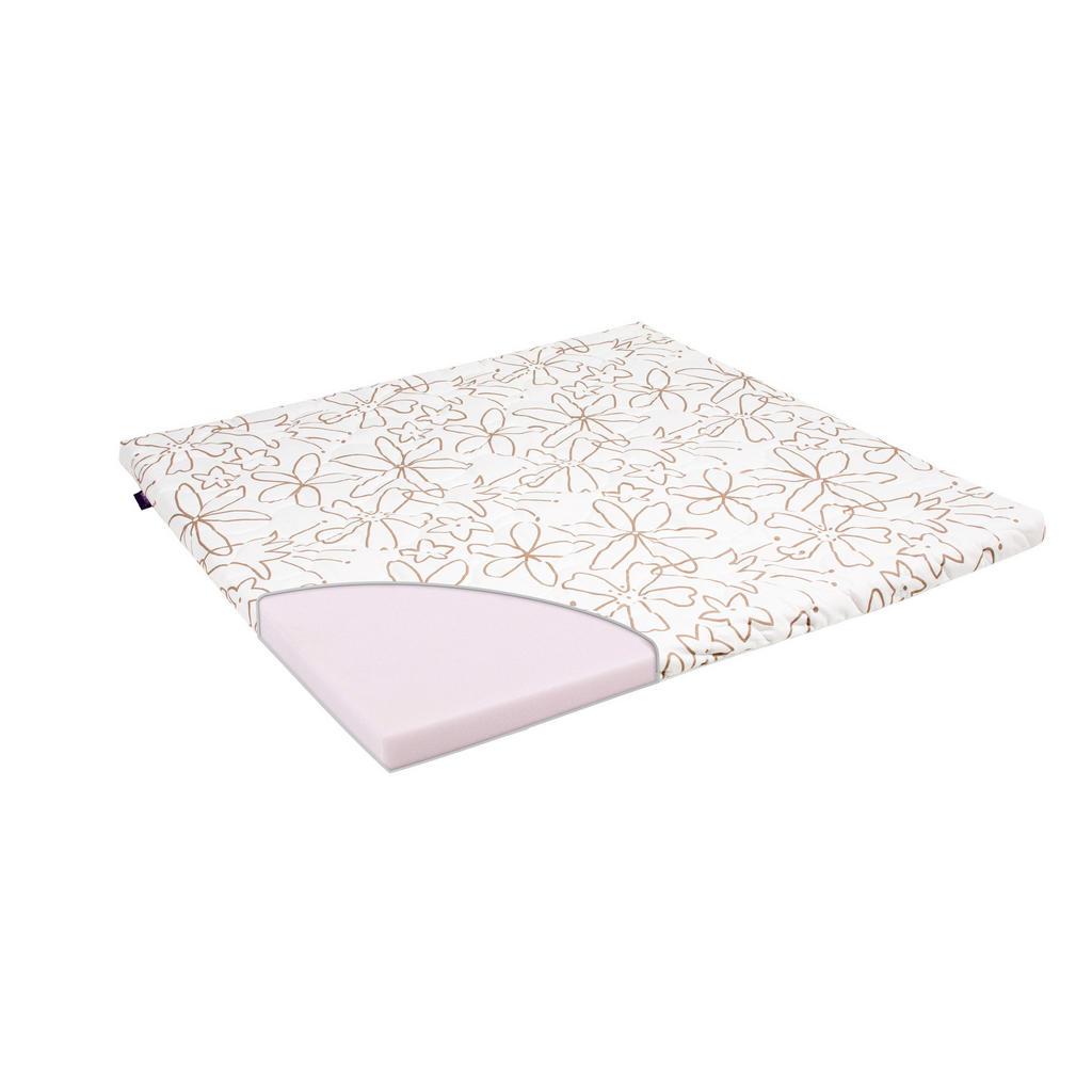 Träumeland LAUFGITTERMATRATZE Schaumstoffkern 93,5/93,5/5 cm, Weiß | Kinderzimmer > Babymöbel > Lauf- & Schutzgitter | Textil | Träumeland