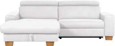 WOHNLANDSCHAFT in Textil Hellgrau - Eichefarben/Hellgrau, Design, Textil (178/262cm) - Hom`in
