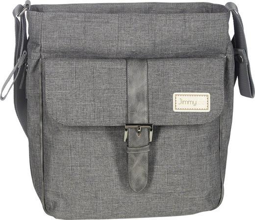 WICKELTASCHE - Creme/Grau, KONVENTIONELL, Textil (29/34/12cm) - Jimmylee