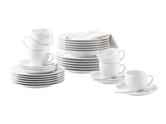 KOMBISERVICE 30-teilig  Rondo - Weiß, Basics, Keramik - SELTMANN