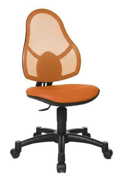 JUGENDDREHSTUHL Lederlook Orange - Schwarz/Orange, Basics, Kunststoff/Textil (88-100//cm)