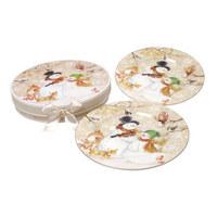 KROŽNIK ZA TORTO CLASSIC TWIST - večbarvno, Basics, keramika (20cm) - X-Mas