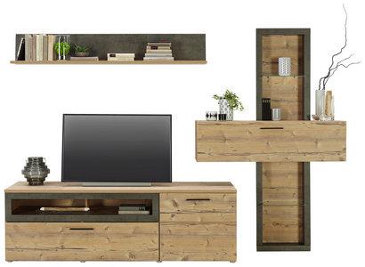 Wohnwand »Space« (2 tlg.) | Wohnwand, Tv wanddekor, Tv möbel