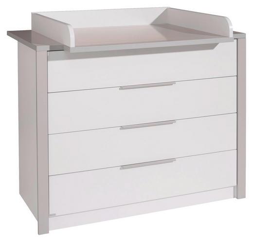WICKELKOMMODE Faro Grau, Weiß - Weiß/Grau, Design, Holzwerkstoff/Metall (117,3/90,4/56,2cm) - Paidi