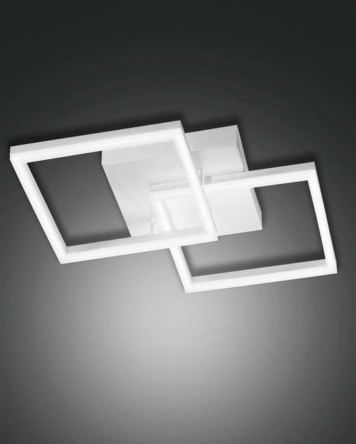 LED-DECKENLEUCHTE - Weiß, Design, Kunststoff/Metall (45/45/11cm)