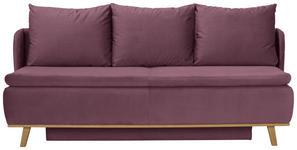 BOXSPRINGSOFA in Textil Flieder  - Flieder, KONVENTIONELL, Holz/Textil (207/95/121cm) - Venda