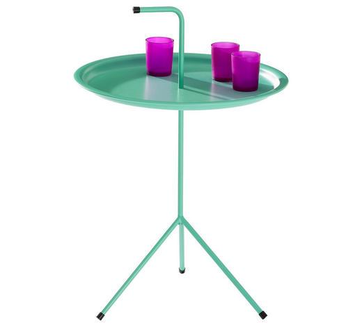 ODKLÁDACÍ STOLEK - mátově zelená, Moderní, kov/umělá hmota (40/58cm) - Carryhome