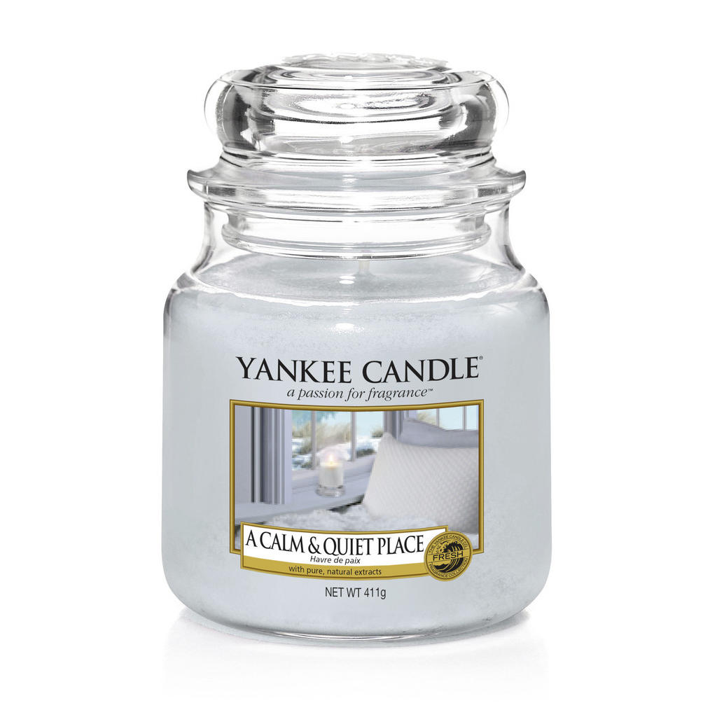 Yankee Candle Duftkerze yankee candle a clam & quiet place