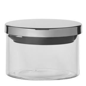 FÖRVARINGSBURK - klar/rostfritt stål-färgad, Basics, metall/glas (9,5/7cm) - Homeware