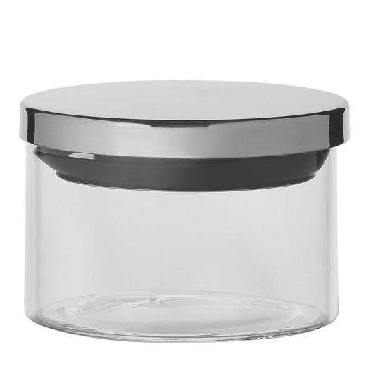 VORRATSGLAS 0,35 L - Klar/Edelstahlfarben, Basics, Glas/Kunststoff (10/7cm) - HOMEWARE