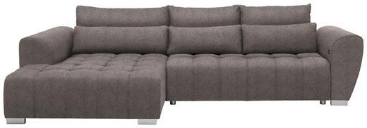 WOHNLANDSCHAFT in Textil Hellbraun - Hellbraun/Silberfarben, MODERN, Kunststoff/Textil (218/304/cm) - Carryhome
