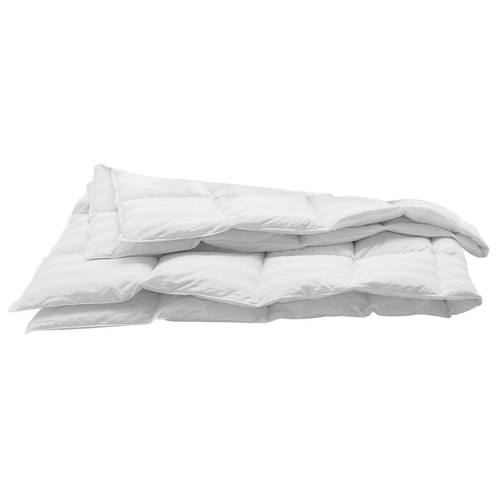 Image of Billerbeck Daunenduvet 160/210 cm , Corfu Light , Textil , 160x210 cm , Jacquard, Satin , temperaturausgleichend, feuchtigkeitsregulierend, weich und anschmiegsam, reines Naturprodukt, passt sich perfekt der Körperform an, für alle Schlafpositionen geeign
