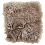 SCHAFFELL SITZKISSEN   Taupe - Taupe, Basics, Leder/Textil (34/34cm) - Linea Natura