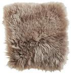 SCHAFFELL SITZKISSEN   Taupe - Taupe, Basics, Leder/Textil (34/34cm)