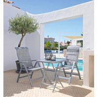 STOL VRTNI - boje srebra, Design, staklo/metal (60/60/70cm) - Ambia Garden