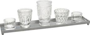 VÄRMELJUSSERIE - klar/silver, Trend, metall/glas - Ambia Home